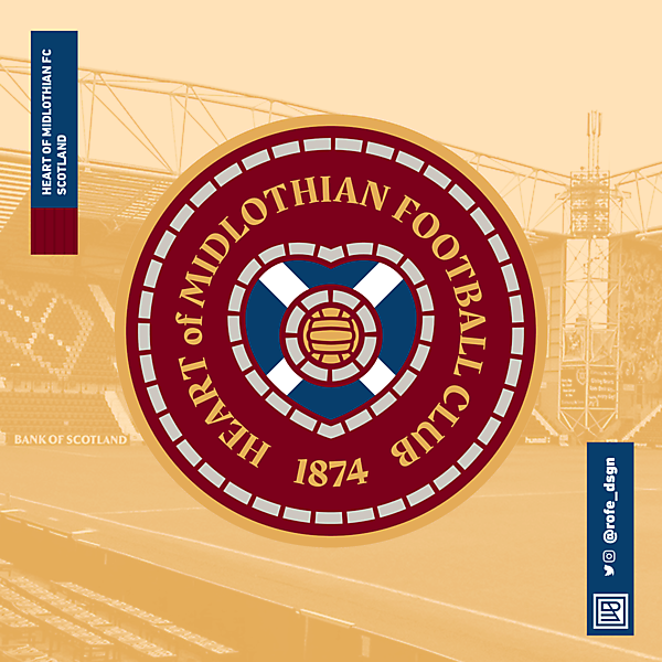 Heart of Midlothian Football Club   Rebranding By @rofe_dsgn