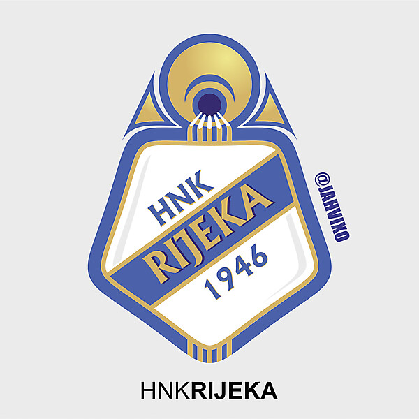 HNK Rijeka Crest Redesign