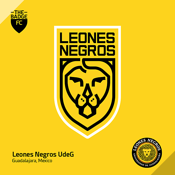 Leones Negros UdeG Badge Redesign Concept by @thebadgefc - CRDW