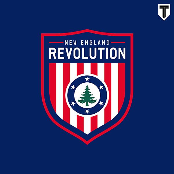 New England Revolution Crest Redesign