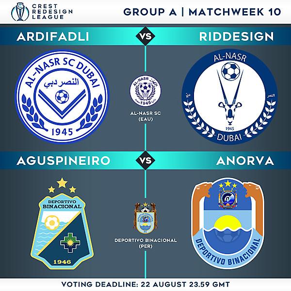 Group A - Matchweek 10 - Voting