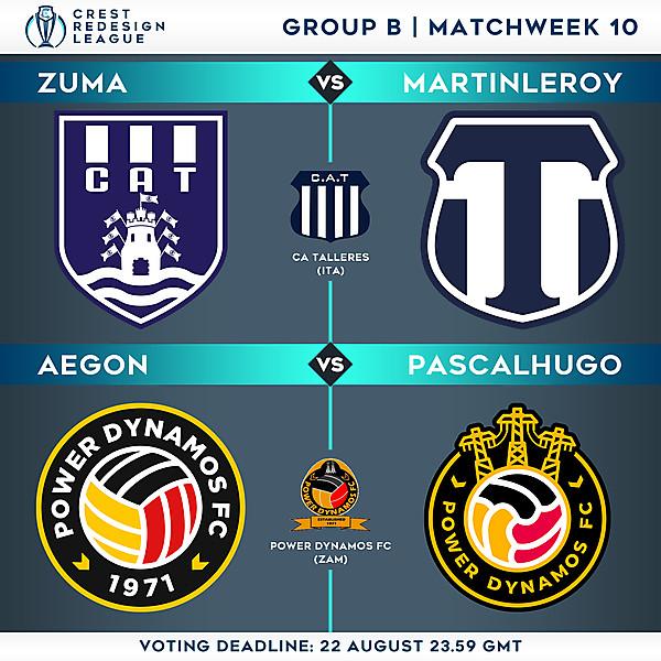 Group B - Matchweek 10 - Voting