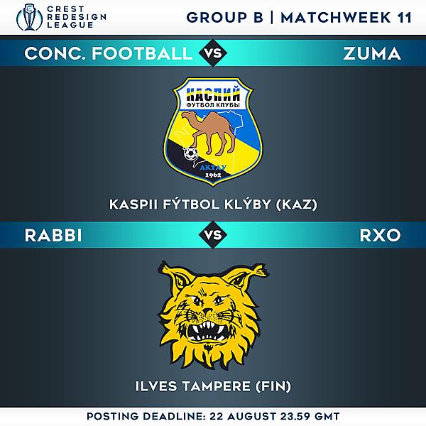 Group B - Matchweek 11