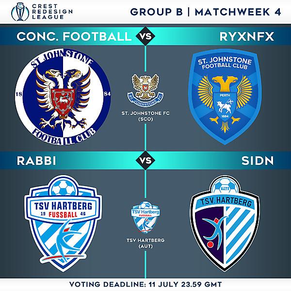 Group B - Matchweek 4 - Voting