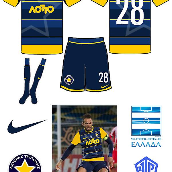 Asteras Tripoli Home Kit- Azure League Matchday 2