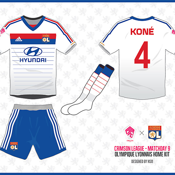 Crimson League - Matchday 9 - Olympique Lyonnais home kit