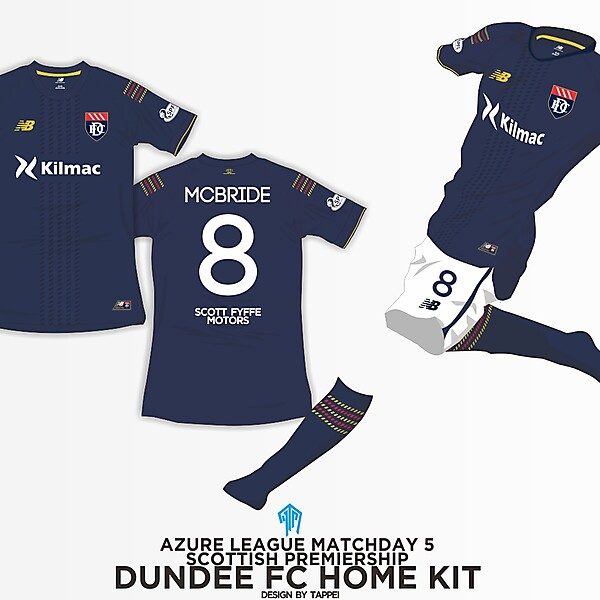 Dundee FC Home Kit - Azure League Matchday 5