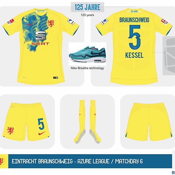 Eintracht Braunschweig Nike Home kit 2015 - Azure League / Matchday 6