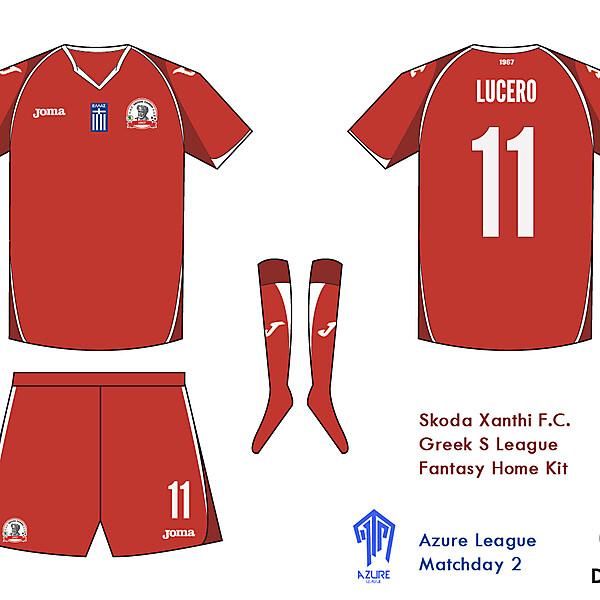 Skoda Xanthi F.C. Kit - Azure League Matchday 2