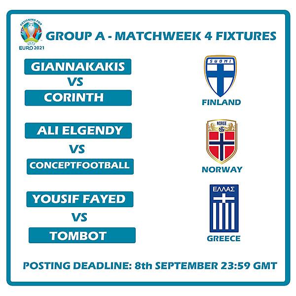 Group A Matchweek 4 Fixtures