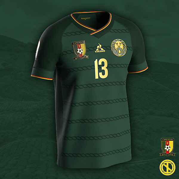 Cameroon   AFCON 2022 Home Kit Concept