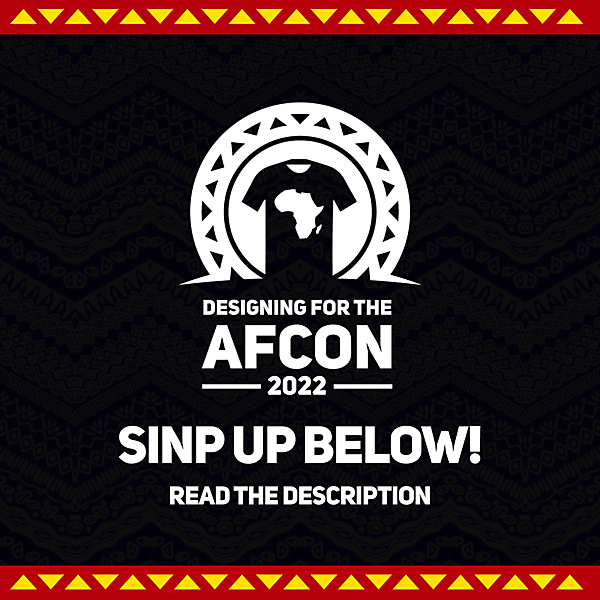 Designing for the AFCON 2022 - Sign Up
