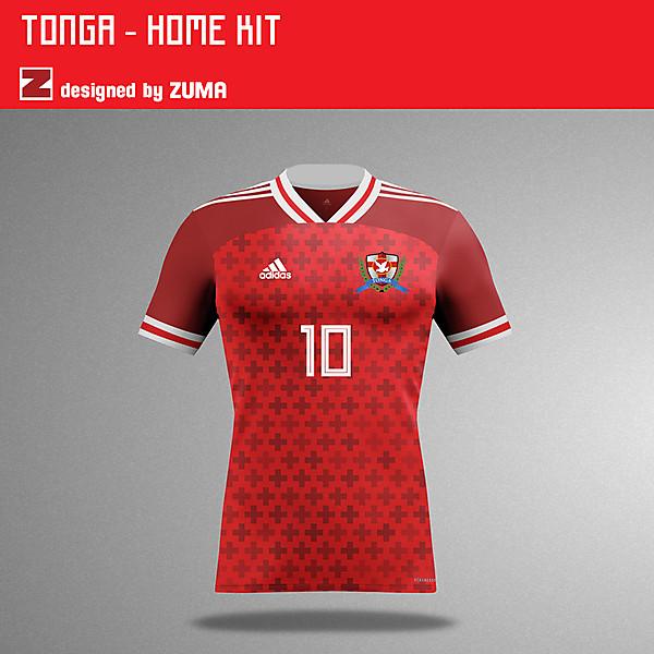 Tonga | Adidas Home Kit