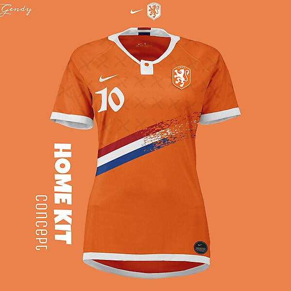 Netherlands women's NT Home Kit Concept