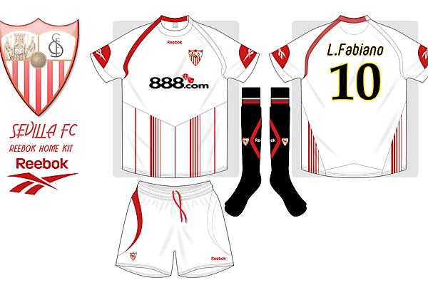 Sevilla FC reebok home kit
