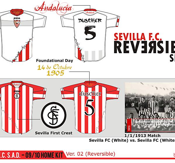 Sevilla F.C. S.A.D. Home shirt ver. 02 - Reversible