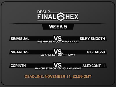 [FINAL HEX WEEK 5] Fixtures