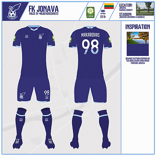 FK Jonava Away Kit | DFSL2 Round 2 | made by @bluehorizonkits