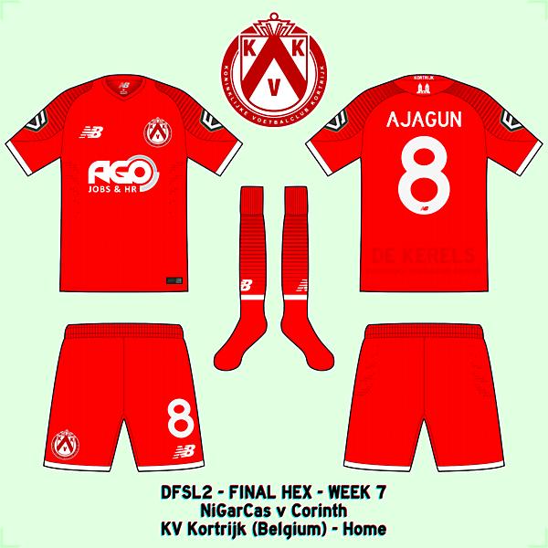 KV Kortrijk - Home kit