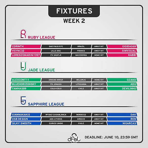 [WEEK 2] Fixtures