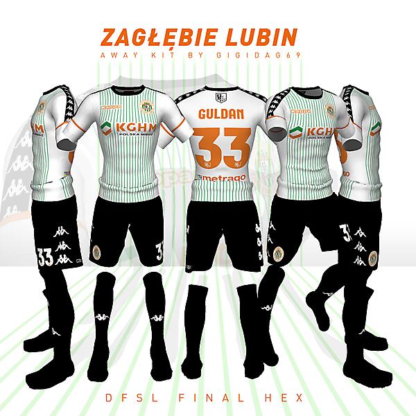 Zagłębie Lubin away kit