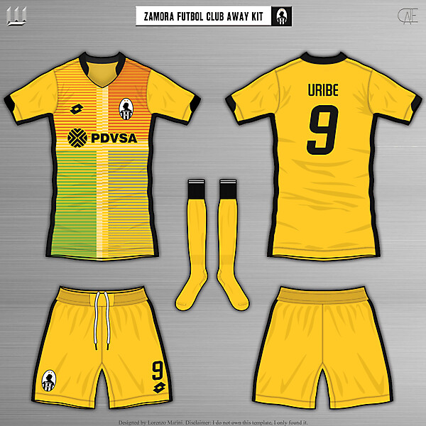 Zamora Fútbol Club Away Kit - by LorenzoMarini1997/CATE (REUPLOAD)
