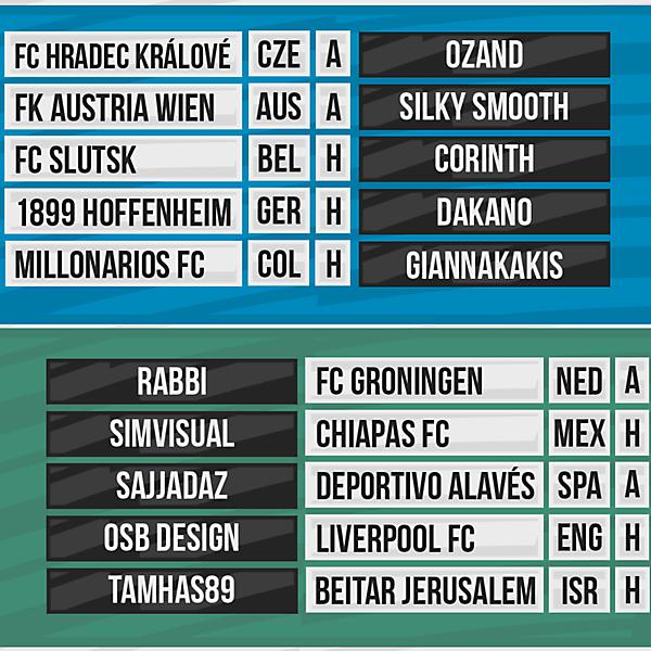 DFSL Round 3 Fixtures