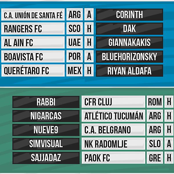 DFSL Round 5 Fixtures