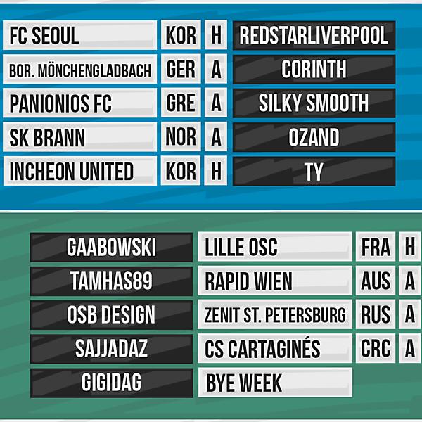 DFSL Round 6 Fixtures