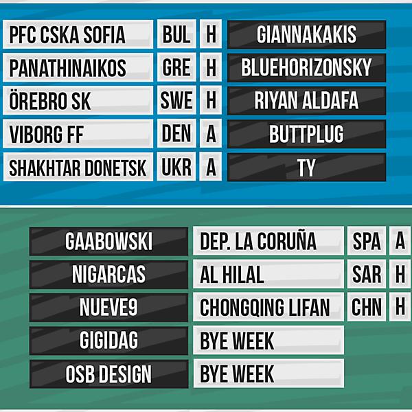 DFSL Round 7 Fixtures