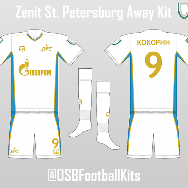 Zenit St. Petersburg - Away Kit (OSB Design)