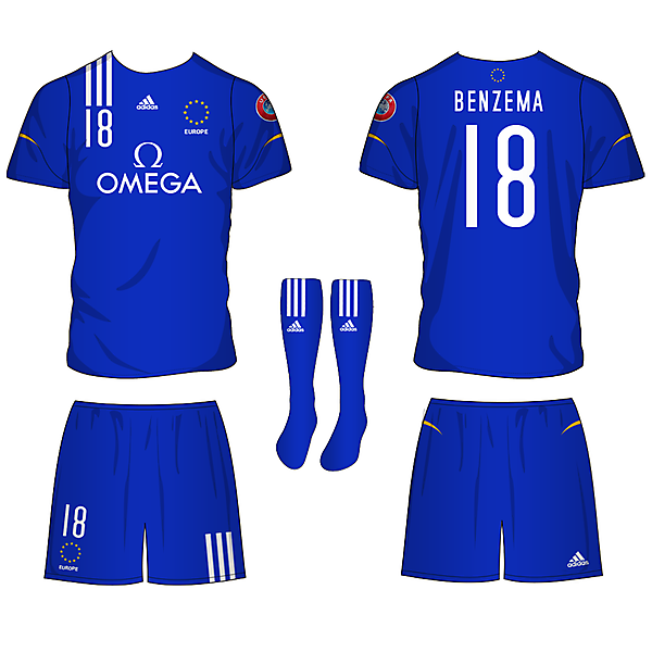European Selection Football Team Kit Design Competition (closed)