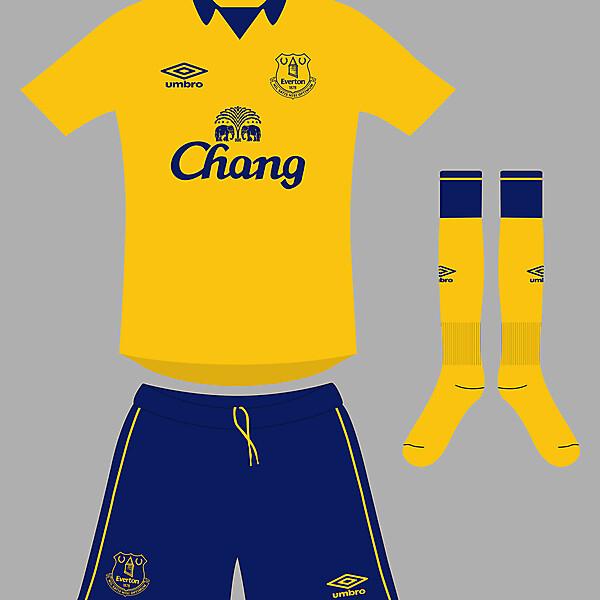 Everton away kit 2014/15