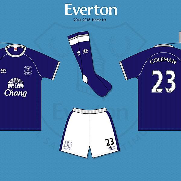 Everton FC 2014/15 Umbro Home Kit