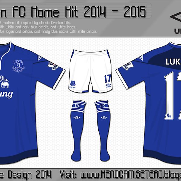 Everton Home Kit 2014 - 2015