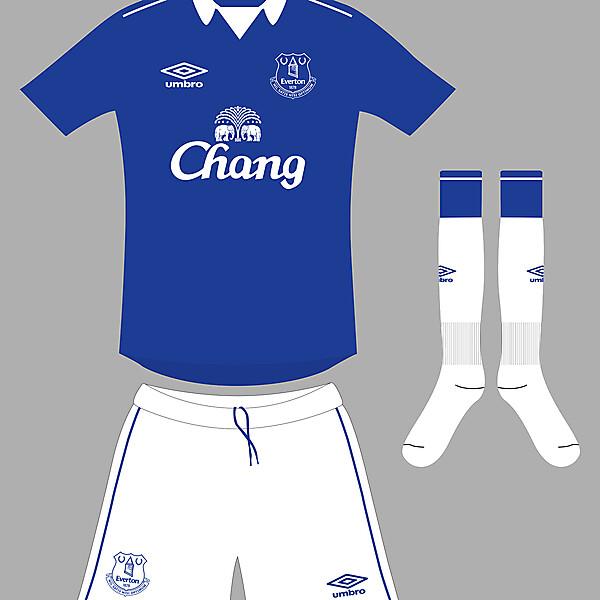 Everton home kit 2014/15