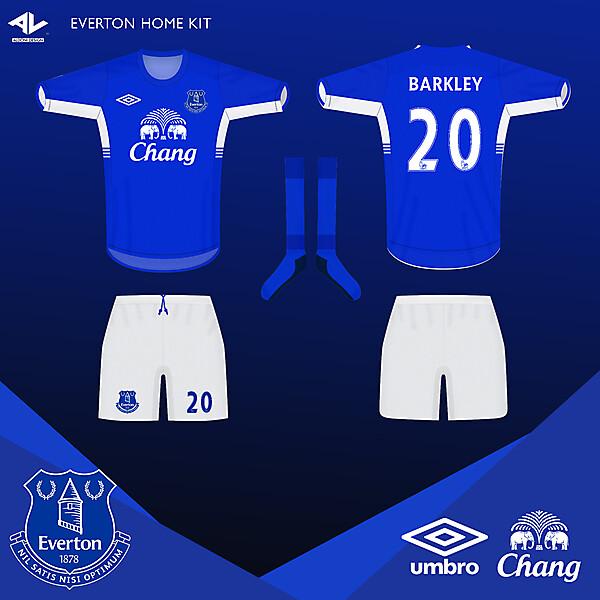 Everton Umbro Home Kit