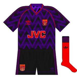 Arsenal third 1991-93