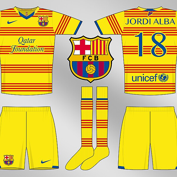 FC Barcelona Senyera (Catalan Flag) 2013-14 Away Kit Design Competition (closed)