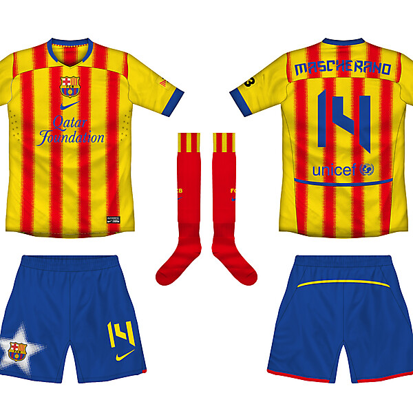 Barca Away w/ alternative shorts