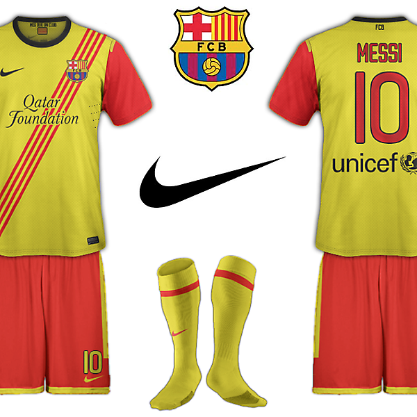 FC Barcelona 2013/14 Catalan Flag Away Kit