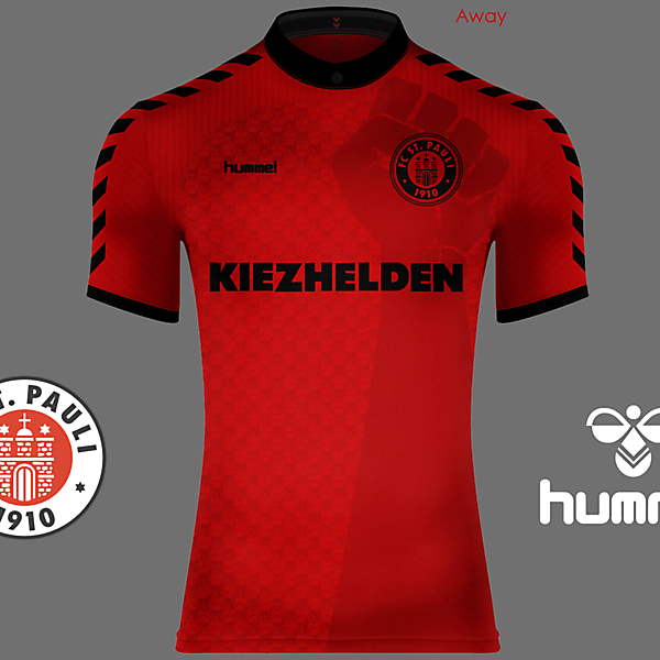 St. Pauli Home, Away and Third Kits - Hummel