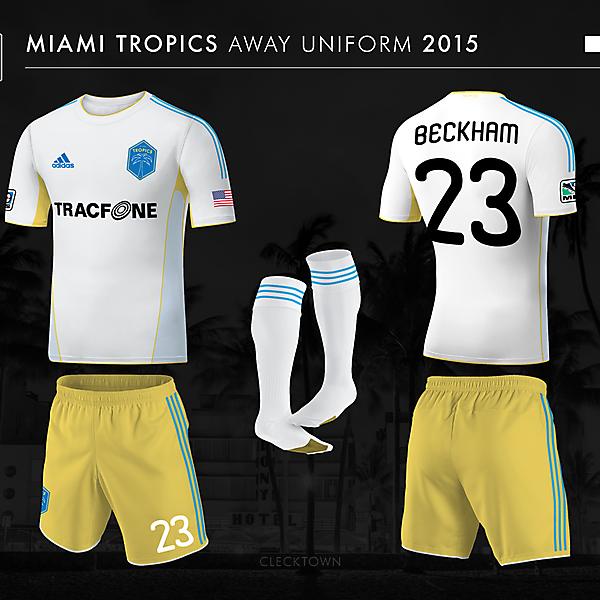 Miami Tropics away uniform