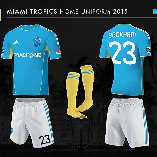 Miami Tropics home uniform