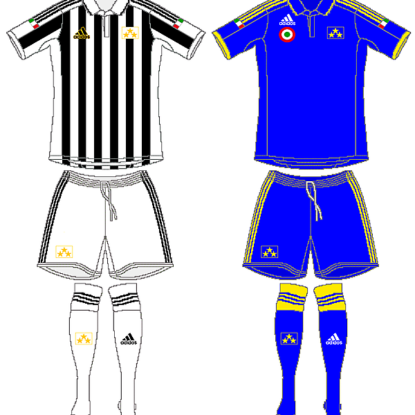 Juventus European Home and Away