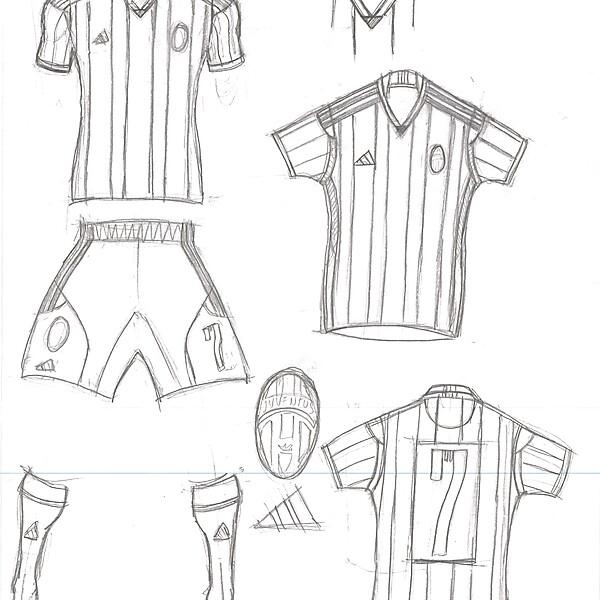 Juventus Home  - Adidas Template Concept