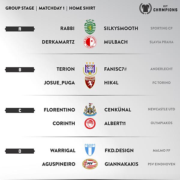Kit Champions - matchday 1