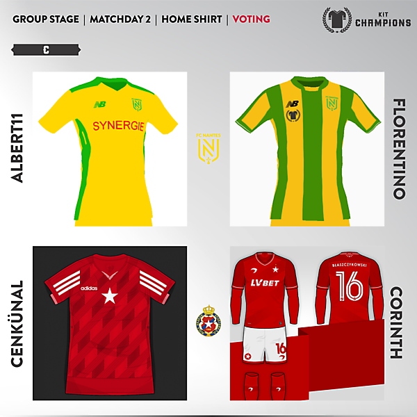 matchday 2 voting - group C