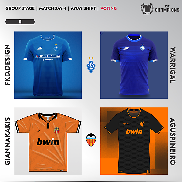 matchday 4 voting - group D