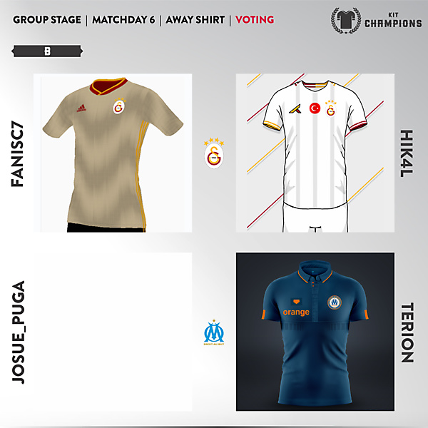 matchday 6 voting - group B